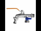 """Rutulinis žalvarinis ventilis 1/2"""", 2 x 3/4"""" iš. sr. su greitu suj."""
