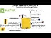 Slėginis akumuliatorinis purkštuvas MAIDINA 16L 2 in 1