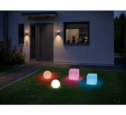 Spalvotai šviečiantis šviestuvas - rutulys, 20 cm