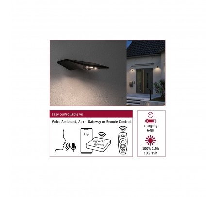 Sieninis Yoko šviestuvas su saulės baterija