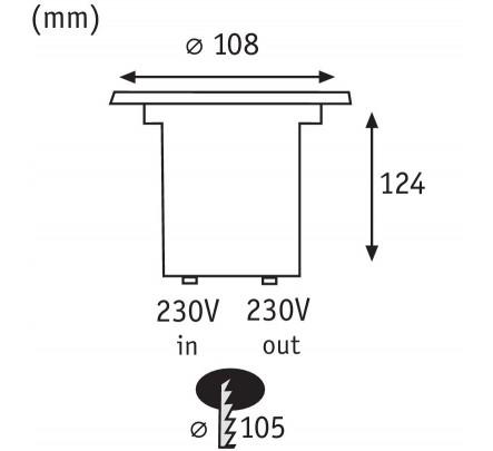 Įleidžiamas šviestuvas 3.5 W