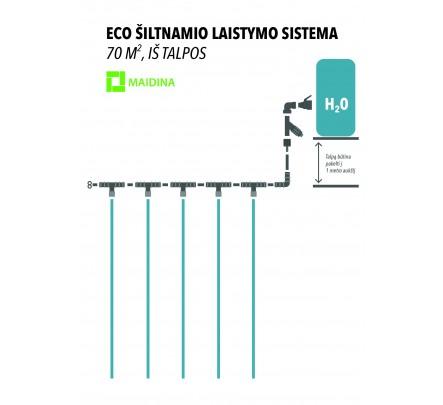 ECO lašelinis laistymo rinkinys, iš talpos 70 m2