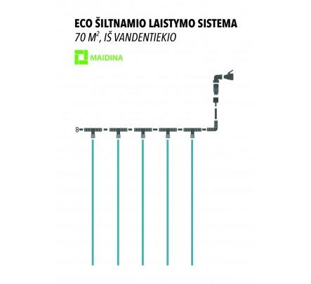 ECO lašelinis laistymo rinkinys, iš vandentiekio 70 m2