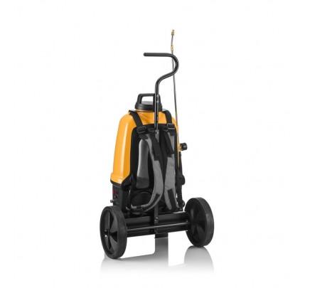 Akumuliatorinis purkštuvas su vežimėliu, 16L