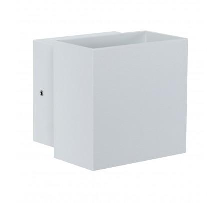 Stačiakampio formos sieninis lauko šviestuvas baltos spalvos