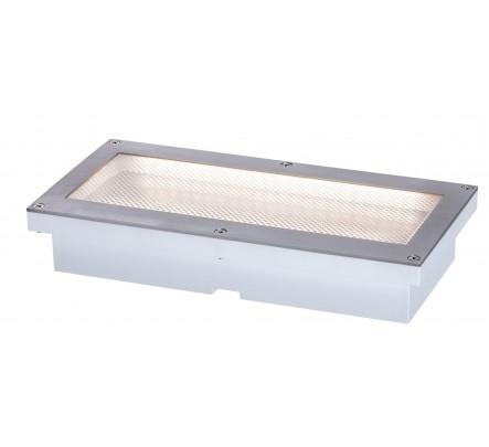 Įleidžiamas šviestuvas su judesio davikliu ir saulės baterija 20x10 cm