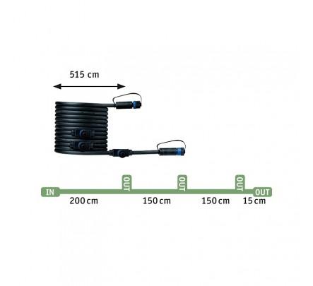 Plug & Shine  įleidžiamas šviestuvų mini komplektas 3x2.5W Paulmann