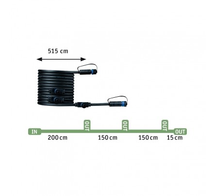 "Plantini ""Plug & Shine"" komplektas su smeige 3 x 2.5W"