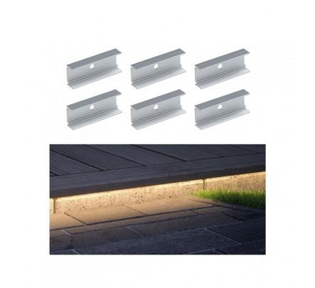 Plug & Shine neoninės LED juostelės spaustukai 5cm (6 vnt.)