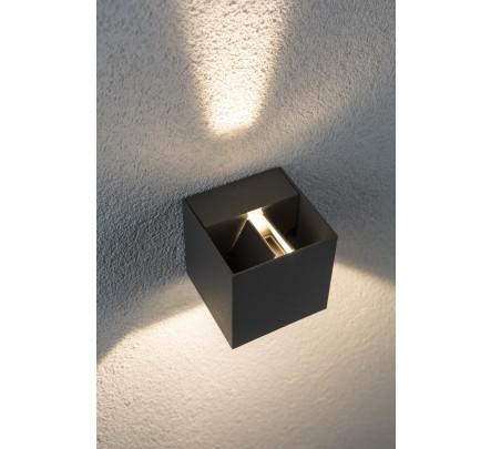 Kubo formos sieninis lauko šviestuvas pilkos spalvos