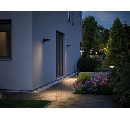 Sieninis lauko šviestuvas su judesio davikliu