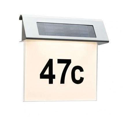 Led namo numeris su saulės baterija