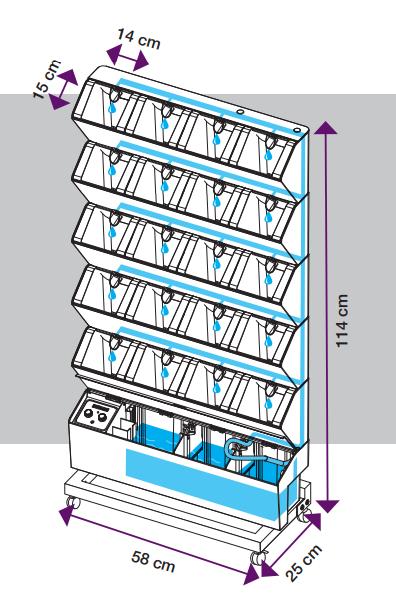 Vertikalus daržas su automatine laistymo sistema